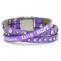 Bracelet violet Happy Good works