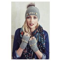 Bonnet et mitaines en gris