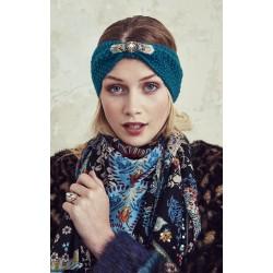 FOXY le headband d'Amenapih bleu pétrole