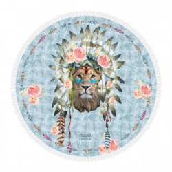 Serviette Ronde Lion