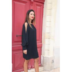 MORGAN robe noire chic et choc