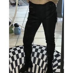 Legging Pantalon suédine Noir