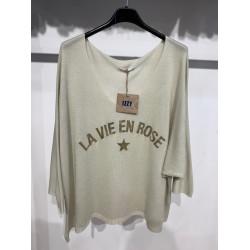 Tee shirt Ecru La Vie en Rose